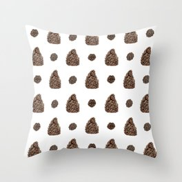Spacing Pinecones Throw Pillow