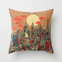 philadelphia Throw Pillows featuring philadelphia by Bekim ART