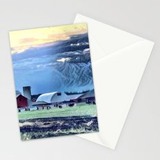 Sunset over the Farm Barn Stationery Cards