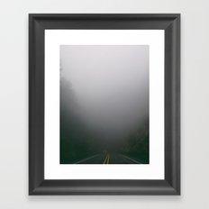Foggy Tunnel Framed Art Print