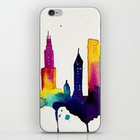 chicago iPhone & iPod Skins featuring Chicago  by Talula Christian