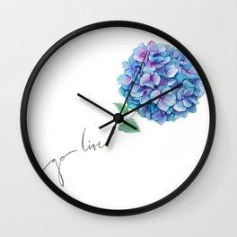 Hydrangea go live Wall Clock