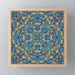 Colorful Mandala Pattern 016 Framed Mini Art Print