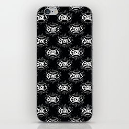 Eye of wisdom pattern-Black & White- Mix & Match with Simplicity of Life iPhone Skin