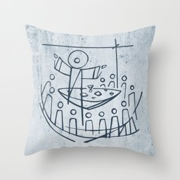 Jesus Christ and disciples in Last Supper Throw Pillow