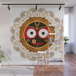 Jagannath. Indian God of the Universe. Lord Jagannatha. Wall Mural