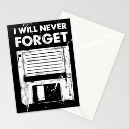 Never forget disc Stationery Cards