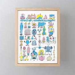 Knick Knacks Framed Mini Art Print