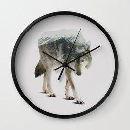 Winter Hunter Wall Clock