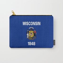 flag winconsin,america,usa,midwest,great lakes, Wisconsinite, Badger, Dairyland,Milwaukee,Madison Carry-All Pouch