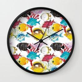 Coral Reef #1 Wall Clock