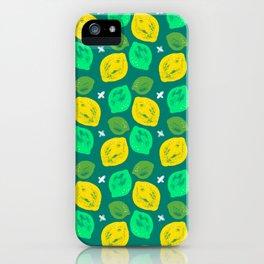 Lemon Lime Pattern iPhone Case