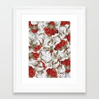 roman Framed Art Prints featuring Roman Collage by Eleaxart