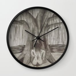 Dreaming By the Willow Wall Clock