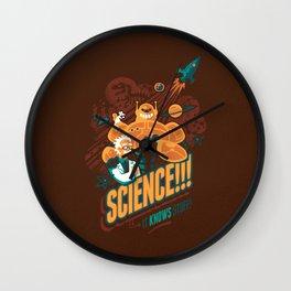 Science!!! It Knows Stuff! Wall Clock