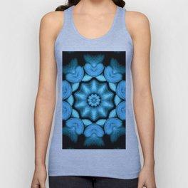 Blue Green Heart Mandala Kaleidoscope Pattern Unisex Tank Top