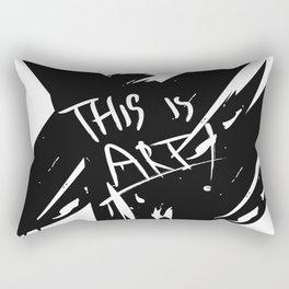 this is art Rectangular Pillow