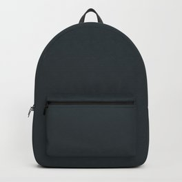 Solid Gunmetal Gray Green Color Backpack