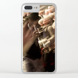 Jazz musician trumpet player Clear iPhone Case