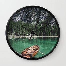 Boats at the Lake // Landscape Photography Wall Clock