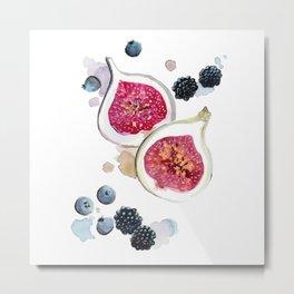 Figs and Berries Metal Print