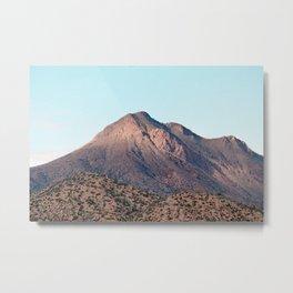 the mountain layer Metal Print