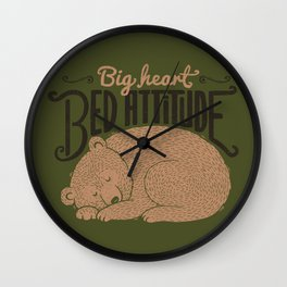 Big Heart Bed Attitude Wall Clock
