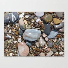 Shiny Pebbles Canvas Print
