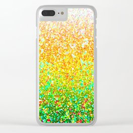 Color Dots Background G73 Clear iPhone Case