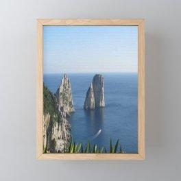 I Faraglioni di Capri Framed Mini Art Print