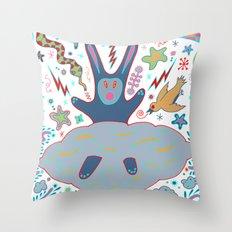 Cloud Rabbit Throw Pillow