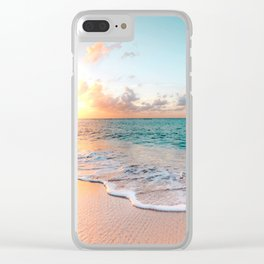 Tropical Sunset Beach, Sunset Photo Clear iPhone Case