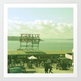 SEATTLE TRAVEL PHOTOGRAPHY Art Print