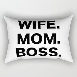 Wife Mom Boss Rectangular Pillow