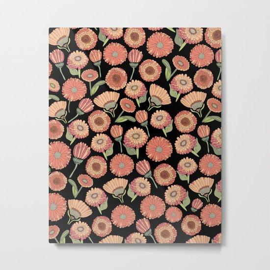 Vintage Florals Metal Print