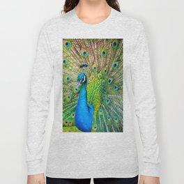 Beautiful Peacock (Color) Long Sleeve T-shirt