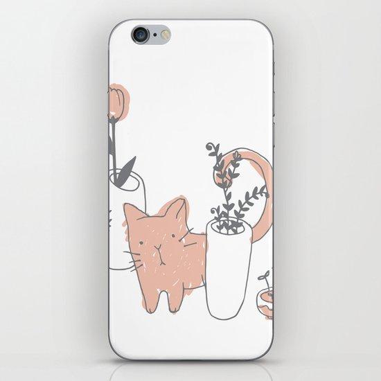 Fatty cat iPhone & iPod Skin