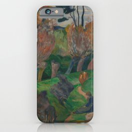 Paul Gauguin - Landskap fra Bretagne iPhone Case
