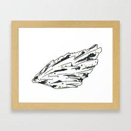 Black Kyanite Wing Print Framed Art Print