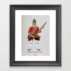 Infantry of the Line Framed Art Print