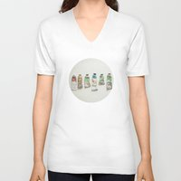 oil V-neck T-shirts featuring Oil Paints by Cassia Beck