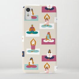 Morning yoga iPhone Case