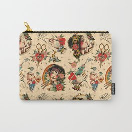 Makers Gonna Make Pattern Tea Stain Carry-All Pouch