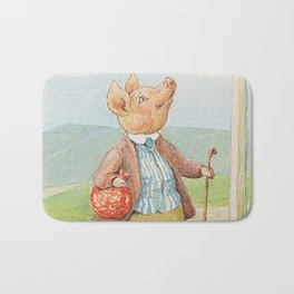 Pigling Bland by Beatrix Potter Bath Mat