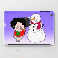 snowman iPad Cases featuring Snowman by Afro Pig