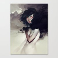 loish Canvas Prints featuring Dark Clouds by loish