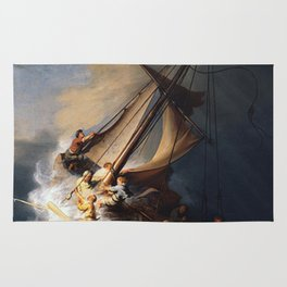 The Storm on the Sea of Galilee-Rembrandt Rug