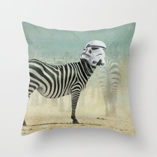 Trooper Stripes  _ Star Wars _ Zebra Throw Pillow