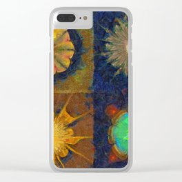 Unijugous Threadbare Flowers  ID:16165-010211-80730 Clear iPhone Case