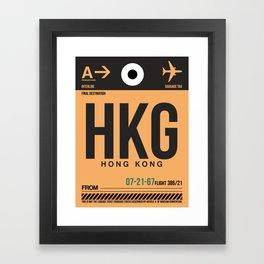 HKG Hog Kong Luggage Tag 2 Framed Art Print